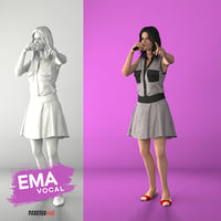 3D female singing
