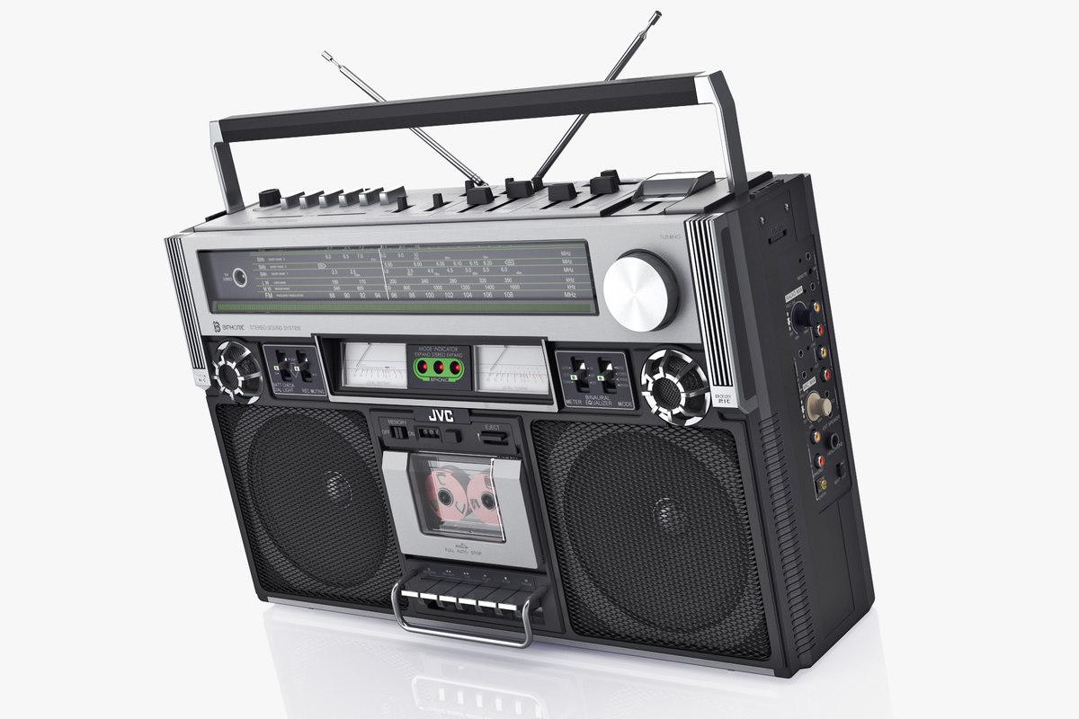 ... retro boombox jvc rc-838 3D model ...