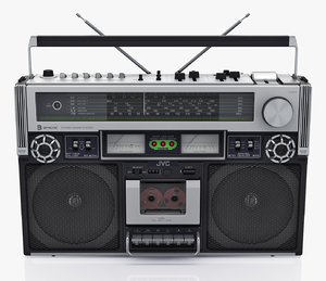 retro boombox jvc rc-838 3D model