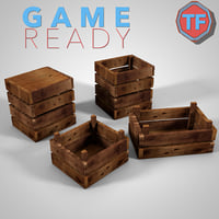 Wooden Crate - Game Ready