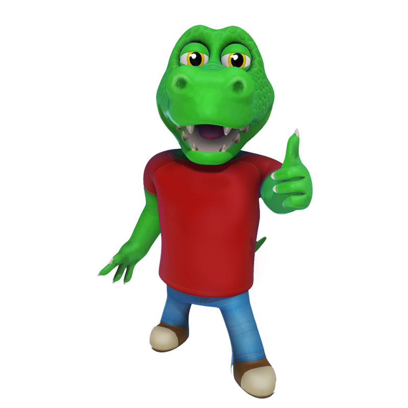 alex alligator 3D model