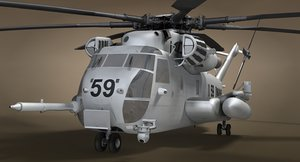 ch-53 military helicopter modeled 3D model