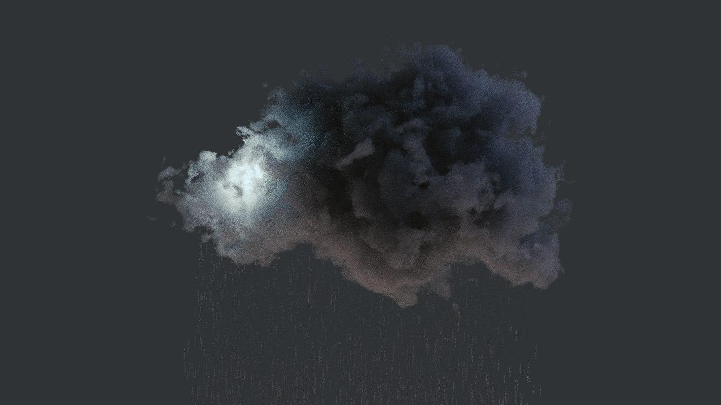 3D cloud animation model