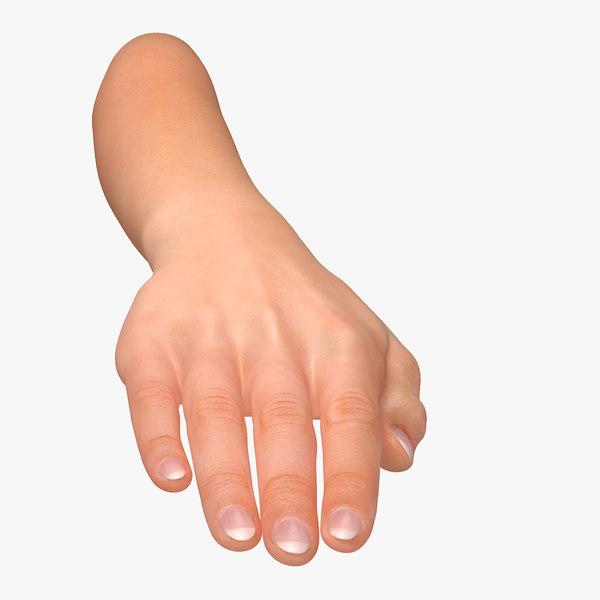 female arm pose c 3D model