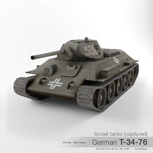 t-34-76 t-34 soviet tank model