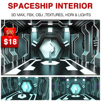 3D spaceship interior model