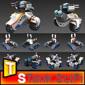 3D scifi tanks