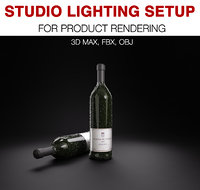 studio light set product model