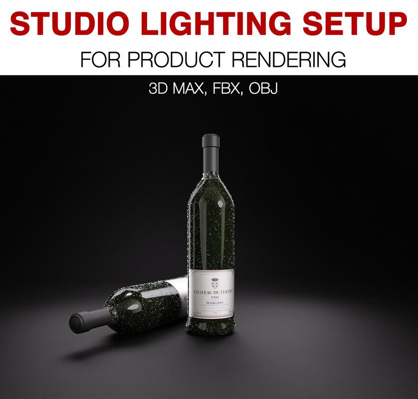 studio light set product model