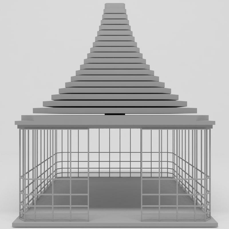 3D garden design model