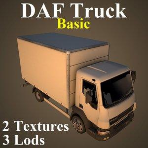 3D model daf truck basic