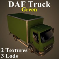 daf truck gre 3D model