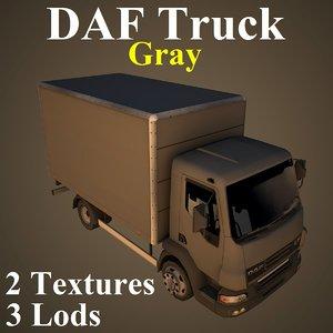 3D daf truck gry