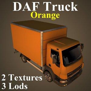 daf truck ora 3D model