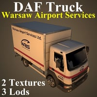 daf truck 3D