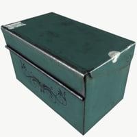 old metal box 3D model