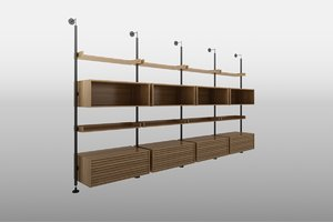 3D model porada ubiqua shelves