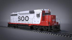 3D locomotive soo line gp
