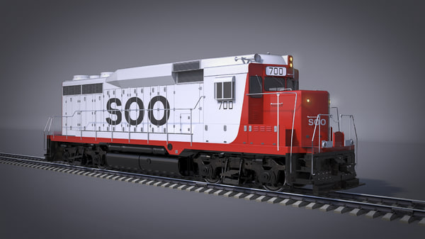 3D locomotive soo line gp