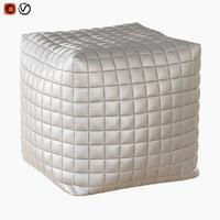 pouf cube model