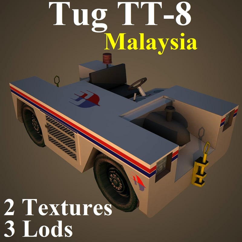 3D tug mas model