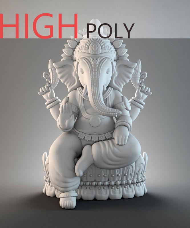 ganesh hindu zbrush 3D
