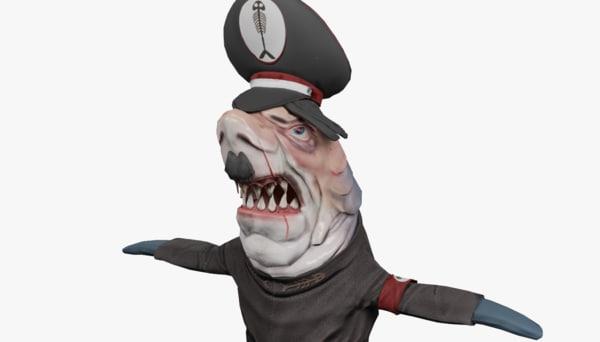 3D shark hitler model