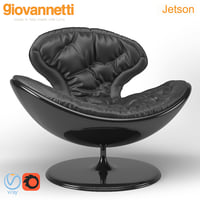 chair armchair giovannetti 3D model