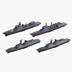 chinese warships naval ship 3D model