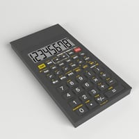 electronic calculator 2 3D model