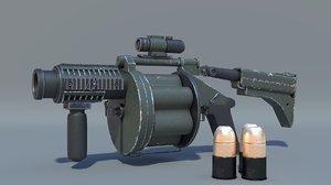 gun ics 190 glm 3D model