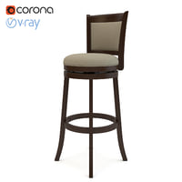 Gotha 29H Swivel Bar Stool with Cushion by Three Posts
