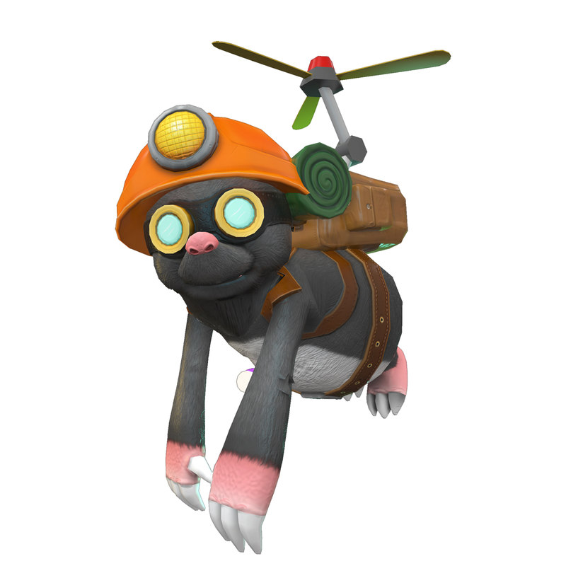 3D miko mole character