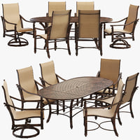 Castelle Coco isle chairs and dining table