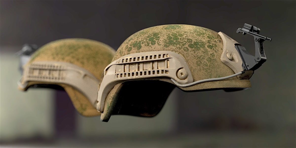 3D bulletproof soldier helmet 2