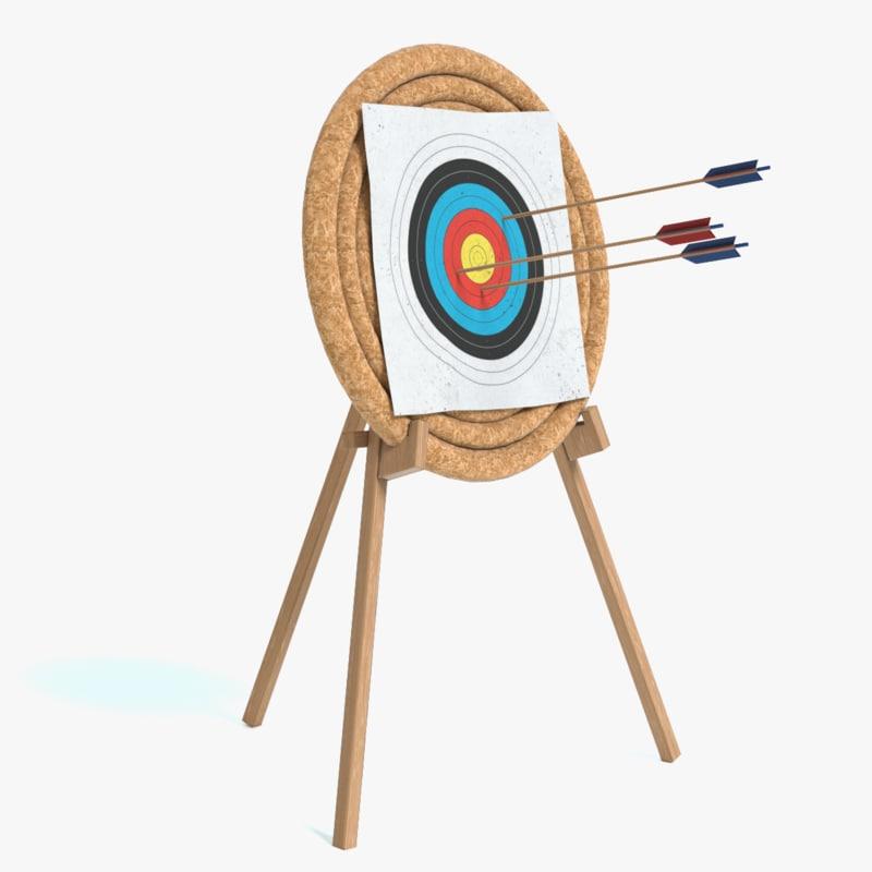 3D archery hay target model