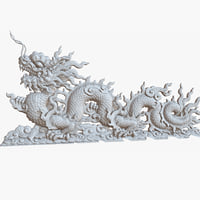 China Dragon Sculpture 1M Raw Scan