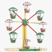 ferris wheel amusement 3D model