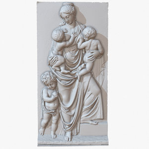 sculpture mother bas relief 3D model