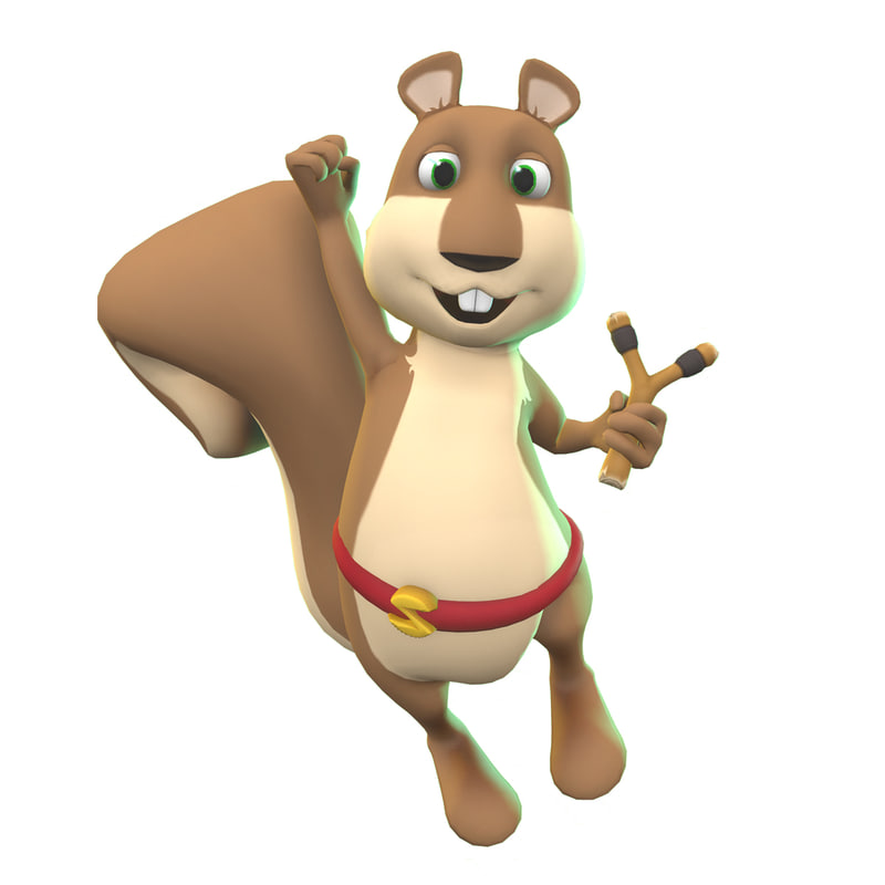 sammy squirrel 3D model