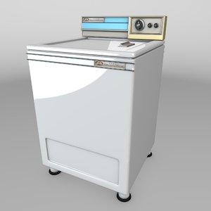 3D vintage wash machine 1967 model