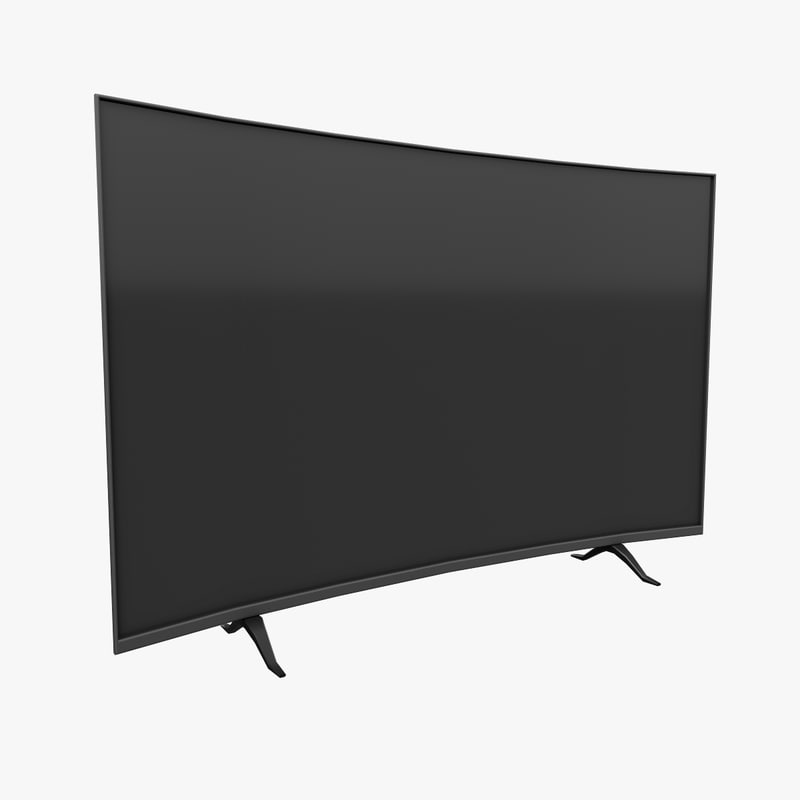 3D model curved television pbr