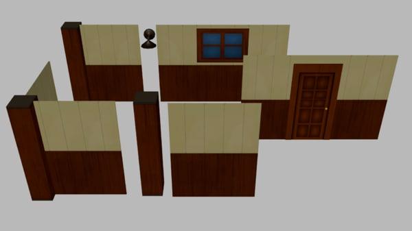 modular room 3D model
