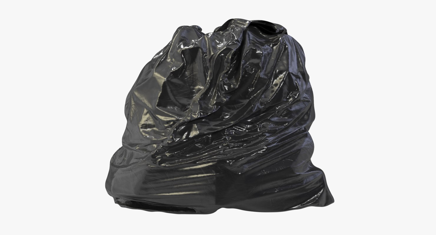realistic garbage bag 02 3D model