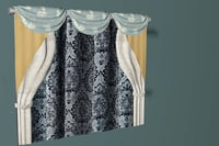 3D curtains photorealistic