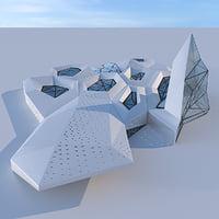 Futuristic building 3