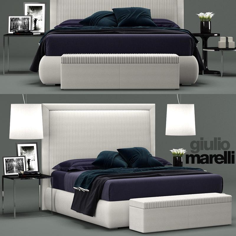3D giulio marelli spencer bed model