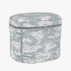 3D model small military bag