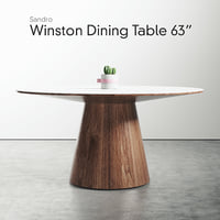 rove winston dining table 3D model