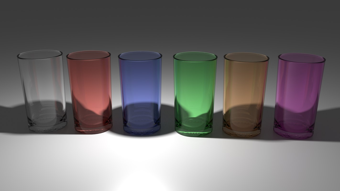 3D simple glass